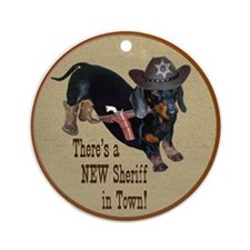 Helaine's Sheriff Ollie Dirt Ornament (Round)