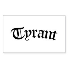 Tyrant (pink) Rectangle Decal