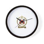 PINARD Family Crest Wall Clock