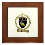 POIRIER Family Crest Framed Tile