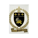 POIRIER Family Crest Rectangle Magnet (100 pack)