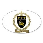 POIRIER Family Crest Oval Sticker