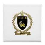 POIRIER Family Crest Tile Coaster