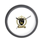 POIRIER Family Crest Wall Clock