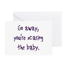 Scaring the baby Greeting Card