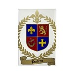 POITRAS Family Crest Rectangle Magnet (100 pack)