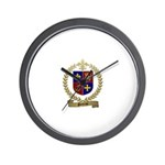 POITRAS Family Crest Wall Clock