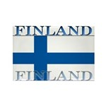 Finland Finish Flag Rectangle Magnet (100 pack)