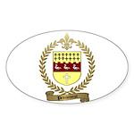 PRONOVOST Family Crest Oval Sticker