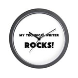 MY Technical Writer ROCKS! Wall Clock