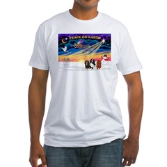 XmasSunrise/3 Cavaliers Fitted T-Shirt