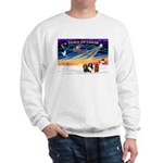 XmasSunrise/3 Cavaliers Sweatshirt