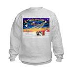 XmasSunrise/3 Cavaliers Kids Sweatshirt
