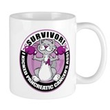 Pancreatic Cancer Survivor Cat Coffee Mug