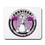 Pancreatic Cancer Survivor Cat Mousepad