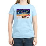 XmasSunrise/5 Cavaliers Women's Light T-Shirt