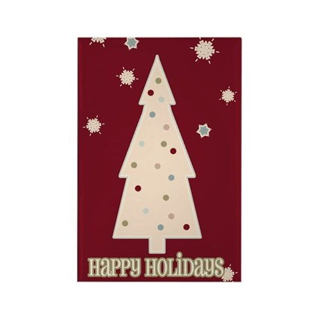 Happy Holidays Tree Rectangle Magnet