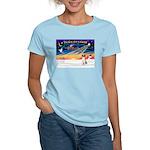 XmasSunrise/American Foxhound Women's Light T-Shir