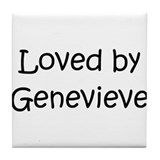 Cute Genevieve Tile Coaster