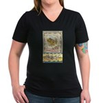 Thanksgiving Joy Women's V-Neck Dark T-Shirt