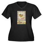 Thanksgiving Joy Women's Plus Size V-Neck Dark T-S