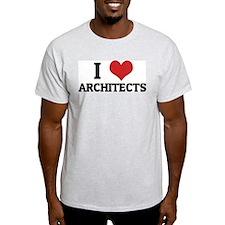 I Love Architects Ash Grey T-Shirt