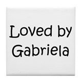 Cute Gabriela Tile Coaster