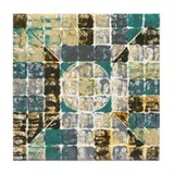 81 Squares of Turq & Lav Tile Coaster
