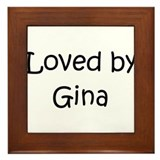Unique Gina Framed Tile