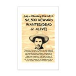 John Wesley Hardin Mini Poster Print