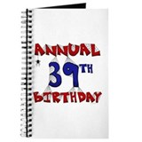 Annual 39th Birthday Journal