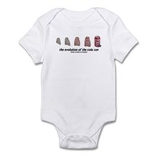 evolution of the cola can Infant Bodysuit