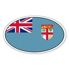 Fijian stickers Oval Sticker (50 pk)