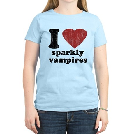 I heart sparkly vampires Women's Light T-Shirt