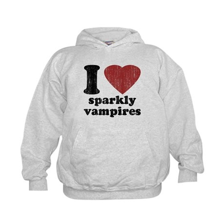 I heart sparkly vampires Kids Hoodie