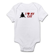 I LOVE MY CAT SHIRT BUMPER ST Infant Bodysuit