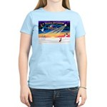 XmasSunrise/Chi Crested Women's Light T-Shirt