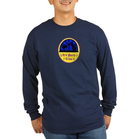 Birthday Party Long Sleeve Dark T-Shirt