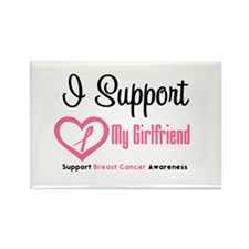 Breast Cancer Support Rectangle Magnet (10 pack)