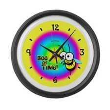 Bee on Time Large Wall Clock