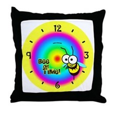 Bee on Time Throw Pillow