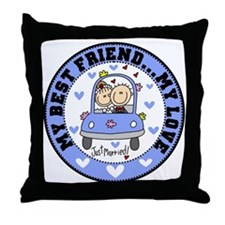 Best Friend and Love Throw Pillow
