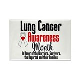 LungCancerAwarenessMonth Rectangle Magnet