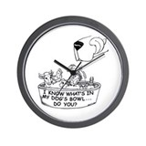 InMyDog'sBowl Wall Clock