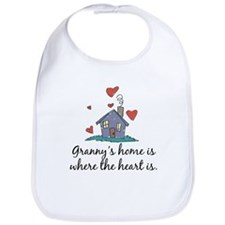 Granny's Home is Where the Heart Is Bib