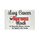 Lung Cancer Month Rectangle Magnet (10 pack)