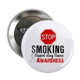 "Stop Smoking Lung Cancer 2.25"" Button"