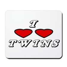 I Love Love Twins Mousepad