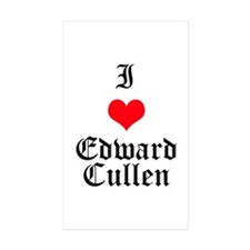 I Heart Edward Cullen Rectangle Sticker 10 pk)