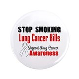 "Stop Smoking Lung Cancer 3.5"" Button"